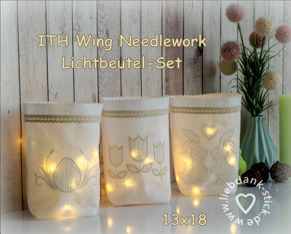 ITH Set Wing Needlework Lichtbeutel Ostern 13x18