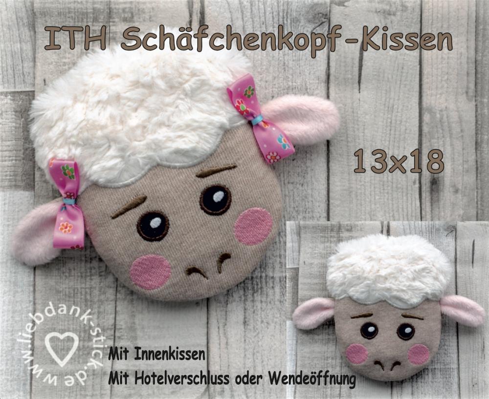 ITH Schäfchen-Kissen - Set 13x18 Rahmen