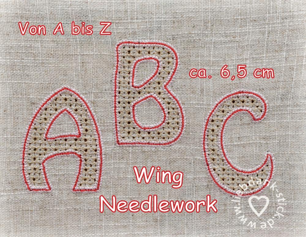 Wing Needlework ABC, von A bis Z, 10x10 Rahmen