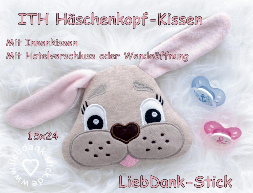 ITH Häschen-Kissen - Set 15x24 Rahmen