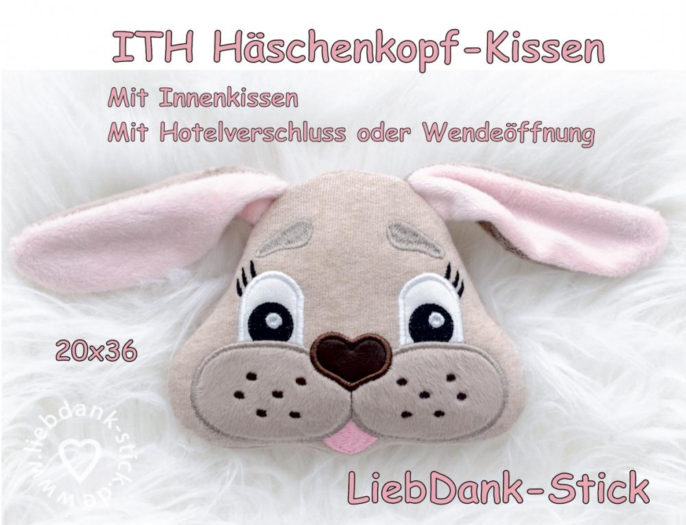 ITH Häschen-Kissen - Set 20x36 Rahmen