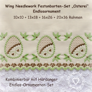 -Festonborte-mit-Wing-Needlework-Osterei-Ornamenten-Set-Endlosornament-Endlosborte