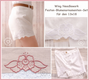 Feston-Blumenornamenten-Set-Wing-Needlework-13x18