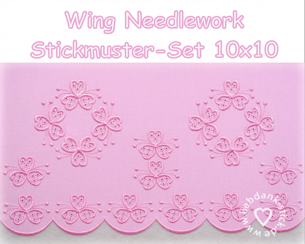 Bild 1 von Stickdatei (Set) Wing Needlework 10x10 (4 Motive)