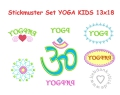 Stickdatei Yoga Kids 13x18 (7 Stickmuster), Applikation