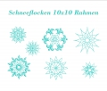 Stickdatei Schneeflocken 10x10 (7 Muster) Winter