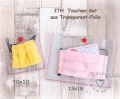 ITH Taschen-Set Transparent-Folie (2 Stickmuster), 10x10 + 13x18