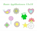 Stickdatei Bunte Applikationen 13x18 (9 Muster)