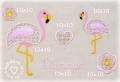 Stickdateien Set Wing Needlework Flamingo 10x10 + 13x18 Rahmen